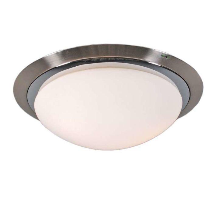 Plafonnier-Barney-35-lumières-acier/chrome