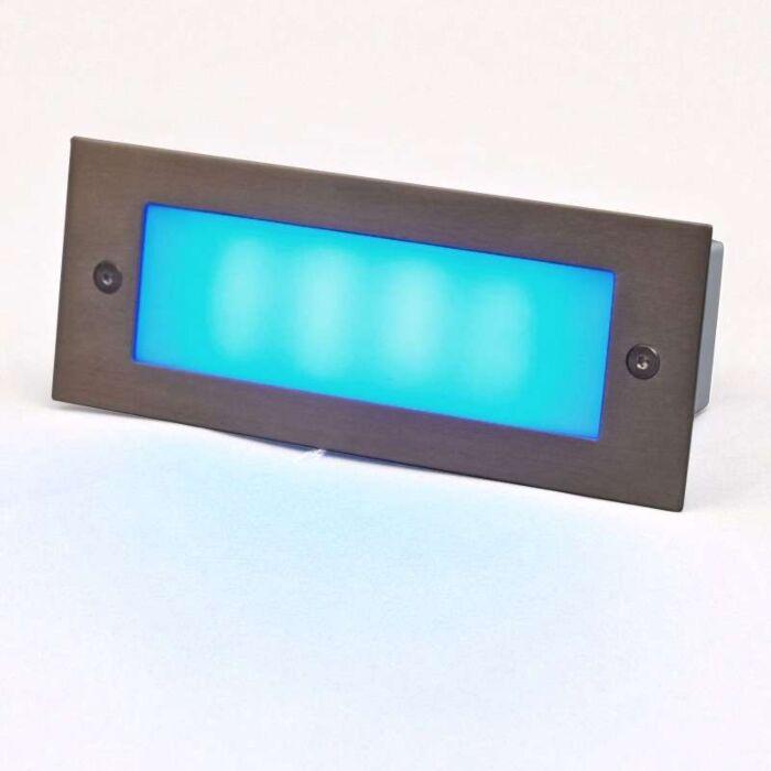 Applique-LED-encastrée-LED-lite-Recta-bleu-17-cm
