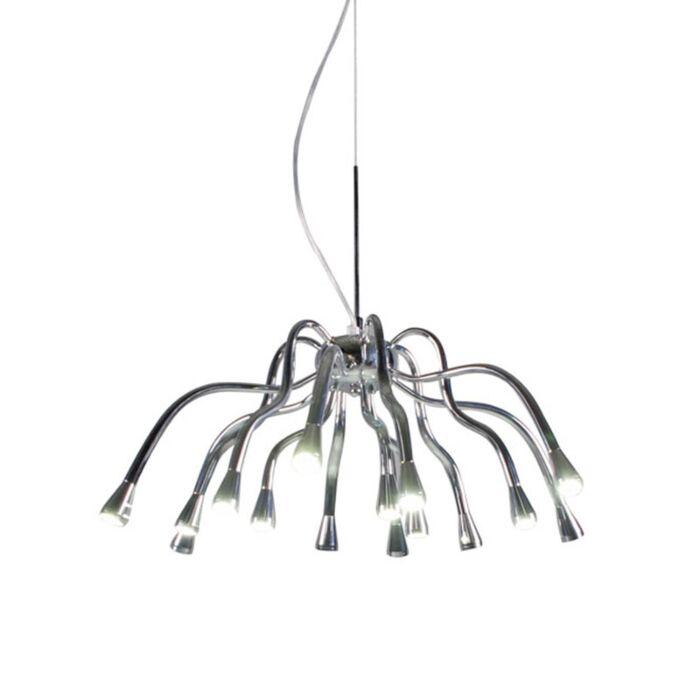 Suspension-Angeline-LED-chrome