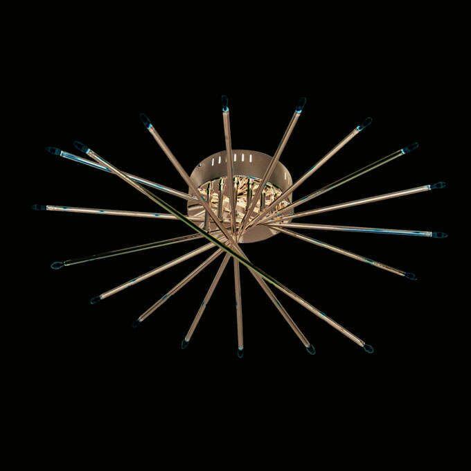 Plafonnier-Mikado-18-lumières-chrome
