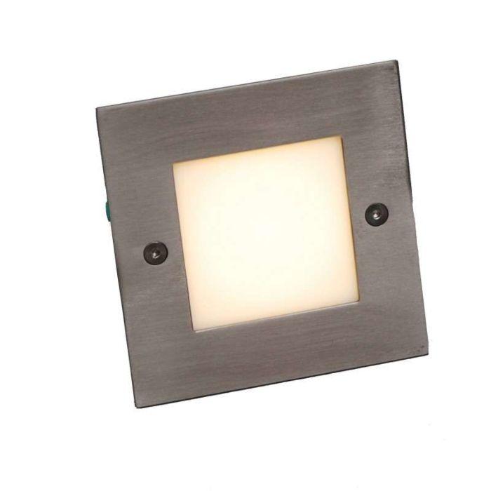 Applique-LED-encastrée-LED-lite-carré-blanc-10-cm