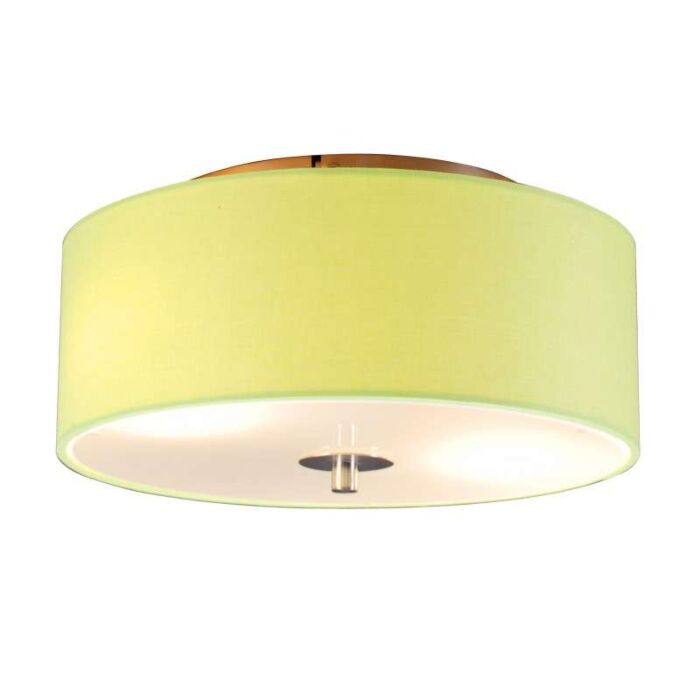 Plafonnier-Drum-rond-30cm-citron-vert