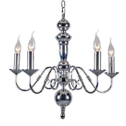 Lustre-Old-Dutch-5-lumières-acier-chromé