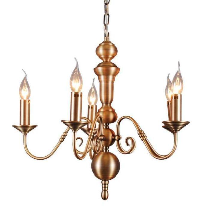 Lustre-Old-Dutch-5-lumière-bronze