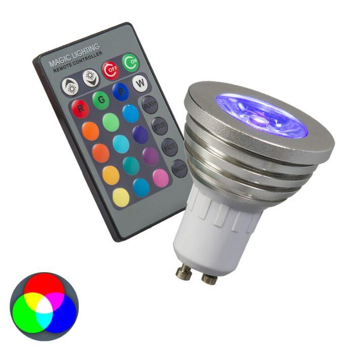 Lampe-RGB-GU10-avec-télécommande