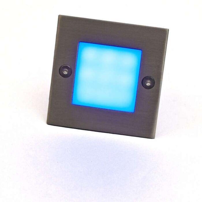 Applique-LED-encastrée-LED-lite-carré-bleu-7-cm