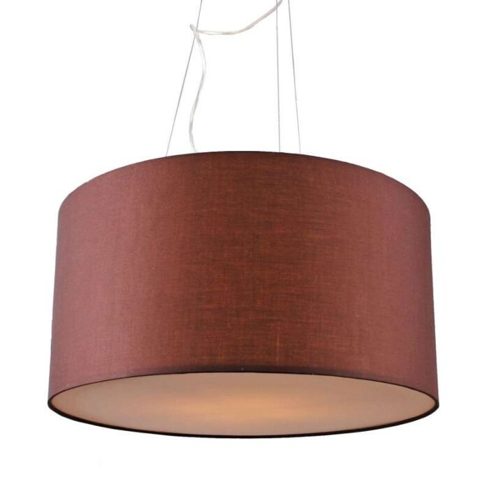 Suspension-Drum-rond-60cm-marron