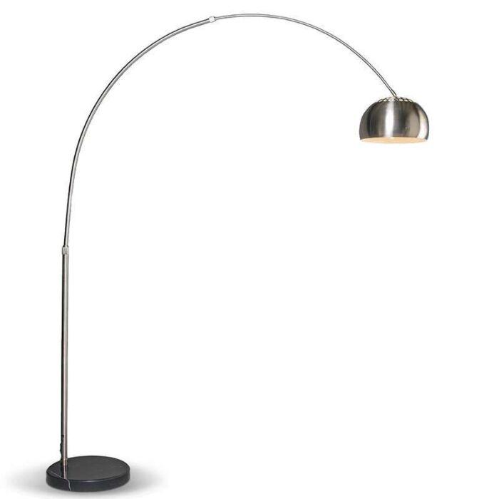 Lampe-à-arc-moderne-en-acier-réglable---Grande