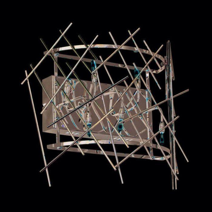 Applique-murale-Forest-5-acier-chromé