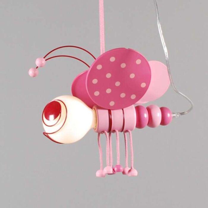 Hanglamp-Kids-Bee-Roze