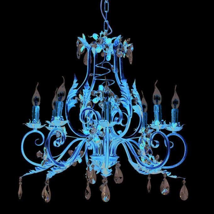 Lustre-Sissy-8-lumières-acier-doré