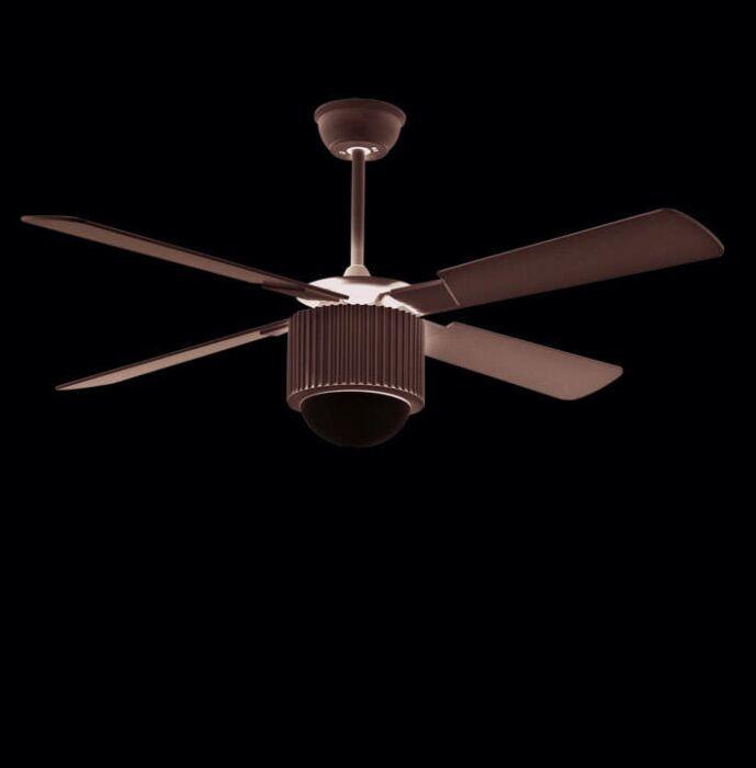 Ventilateur-de-plafond-Rotor-52-argenté