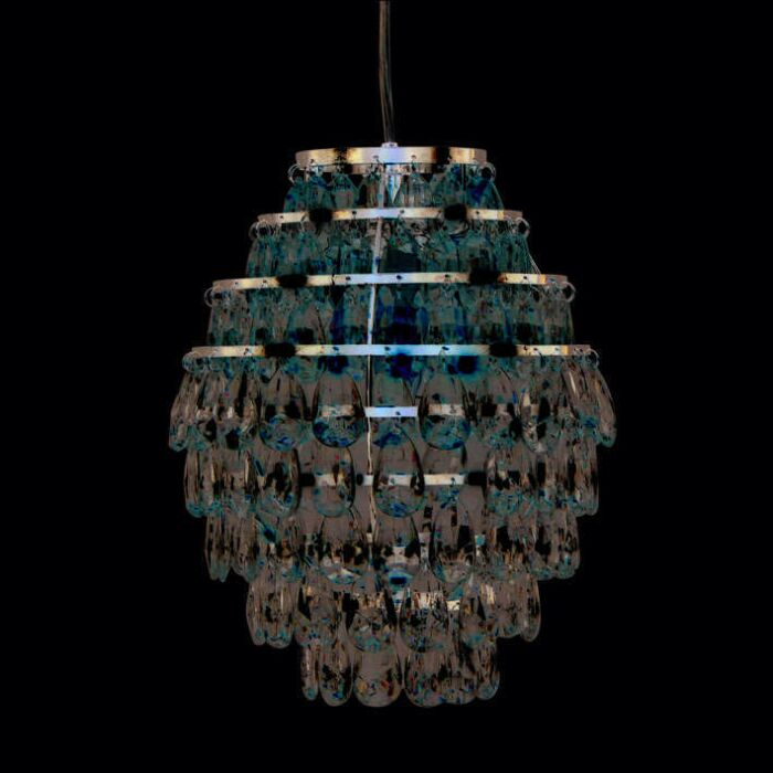 Suspension-Pinecone-22-cm-acier-chromé