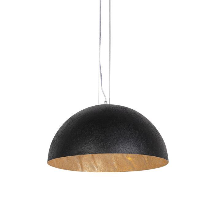 Lampe-à-suspension-industrielle-noire-avec-or-50-cm---Magna