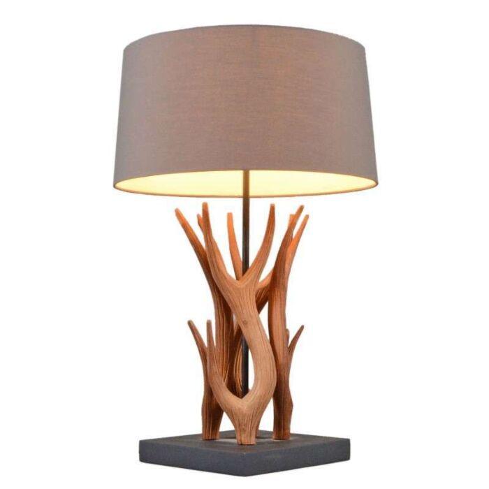 Lampe-de-table-Yindee-naturel-abat-jour-brun