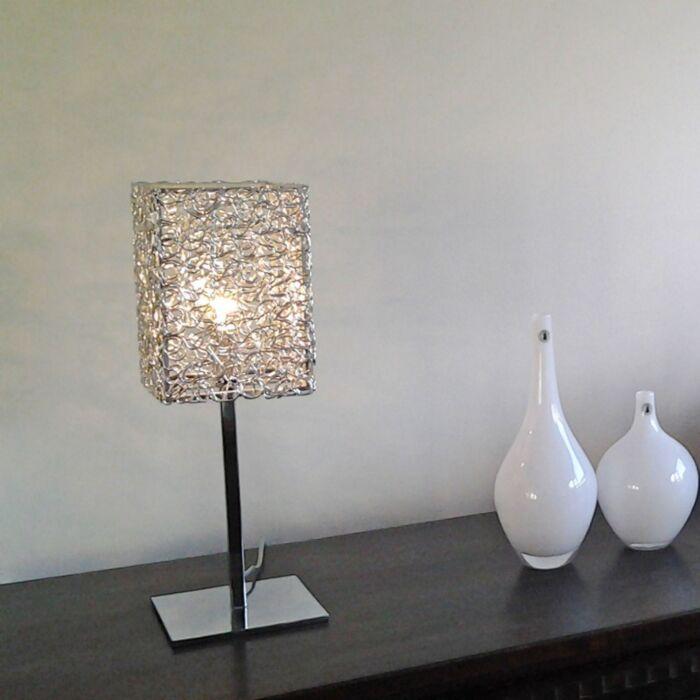 Lampe-de-table-Draht-Square-L-aluminium