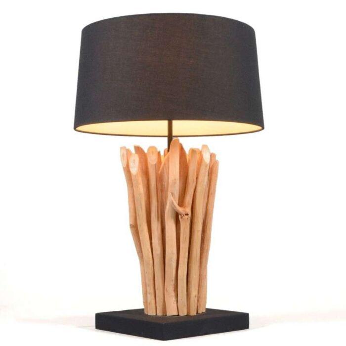 Lampe-de-table-Phatom-naturel-45-cm-abat-jour-noir
