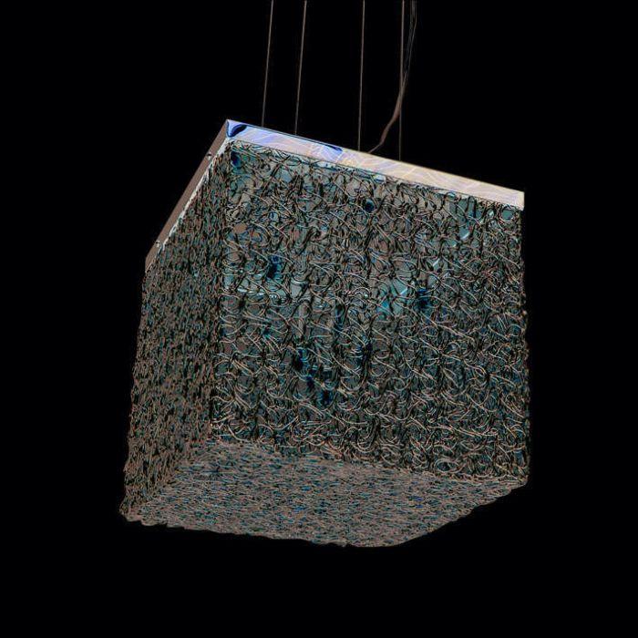 Suspension-Draht-Square-10-aluminium
