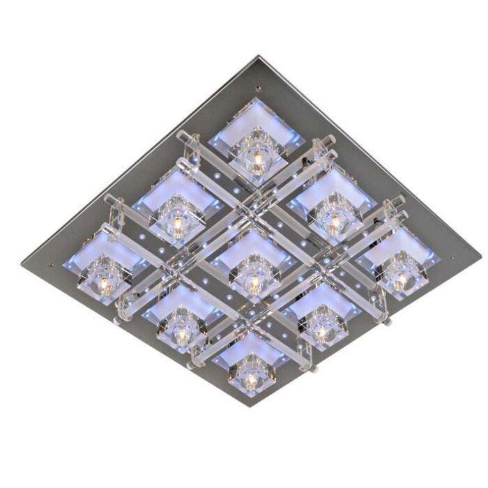 Plafonnier-Ilum-9-lumières-chrome