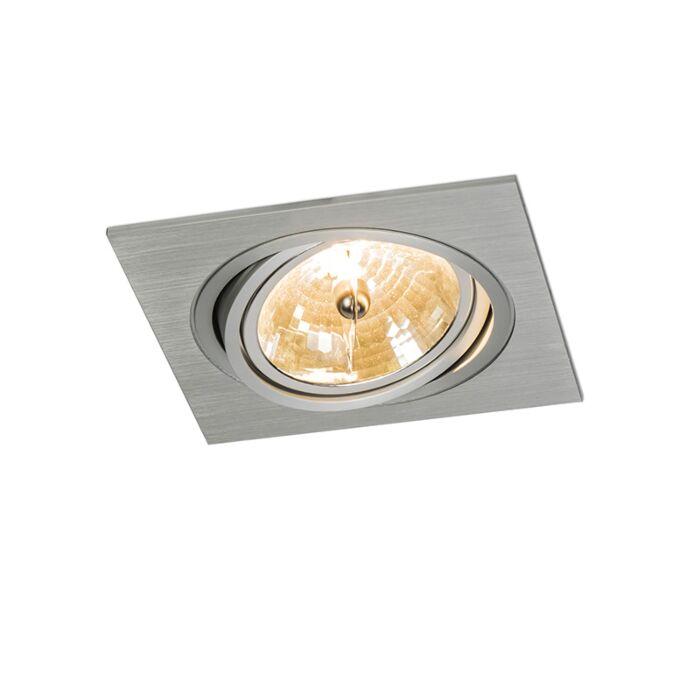 Spot-à-encastrer-Impact-carré-aluminium