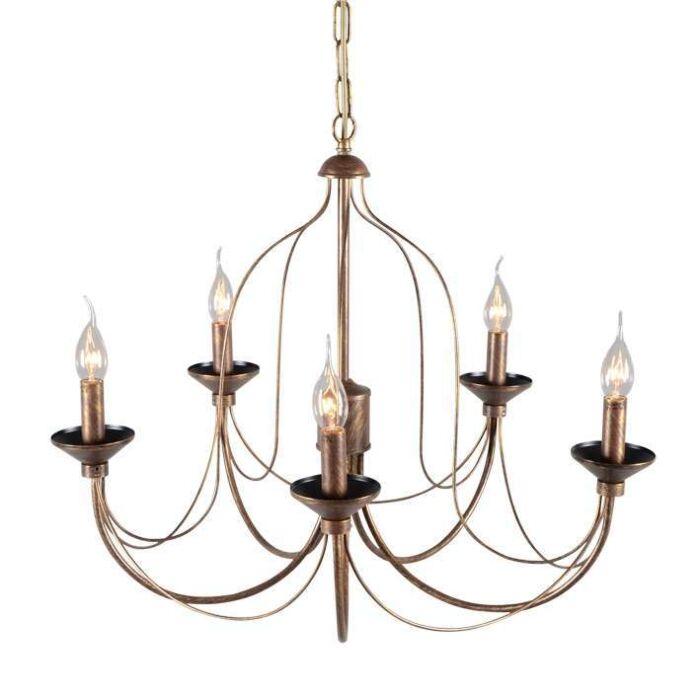 Lustre-Luino-5-lumières-bronze