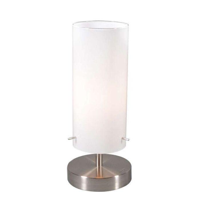 Lampe-de-table-Boy-1-acier-et-verre-blanc