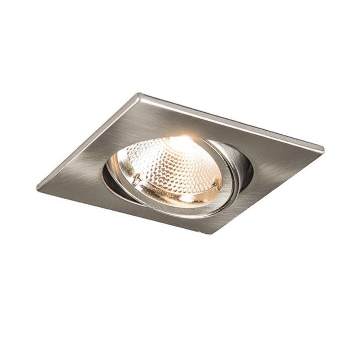 Spot-encastré-LED-6W-Safe-carré-acier