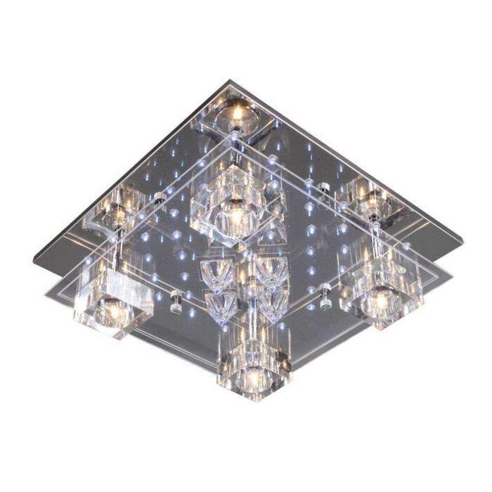 Plafonnier-Ilum-4-lumières-chrome