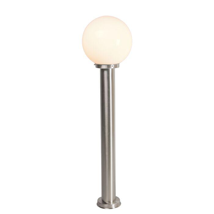 Lampadaire-d'extérieur-moderne-acier-inox-100-cm---Sfera