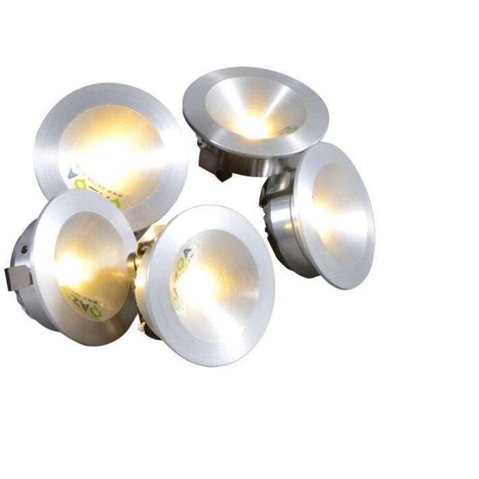 Set-5-spots-LED-à-encastrer-Niek-aluminium