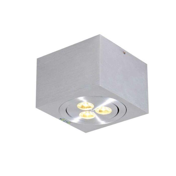 Plafonnier-Keoni-carré-aluminium