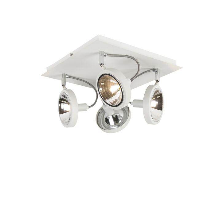 Spot-design-blanc-4-lumières-réglable---Nox