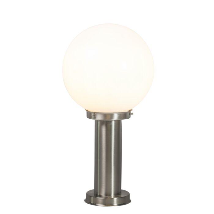 Lampe-d'extérieur-moderne-poteau-acier-inox-50-cm---Sfera