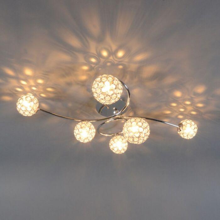 Plafonnier-Sfera-6-lumières-chrome