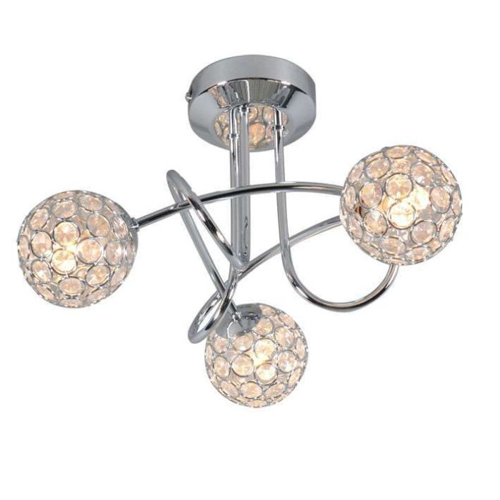 Plafonnier-Sfera-3-lumières-chrome