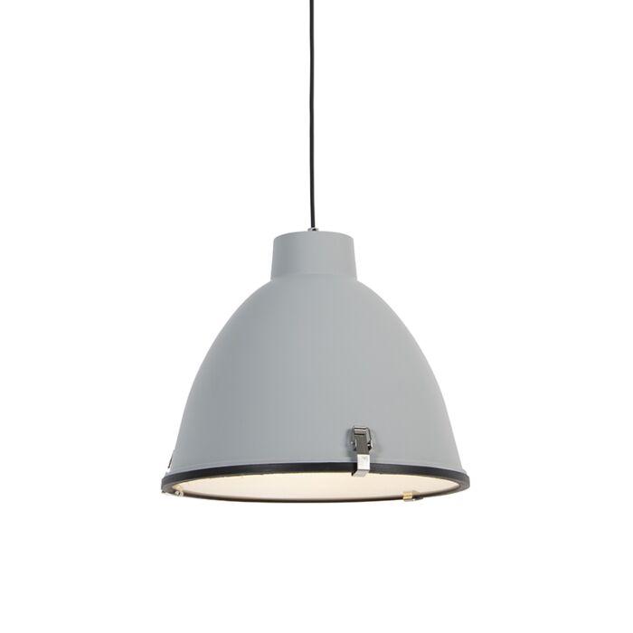 Lampe-à-suspension-industrielle-grise-38-cm-dimmable---Anteros