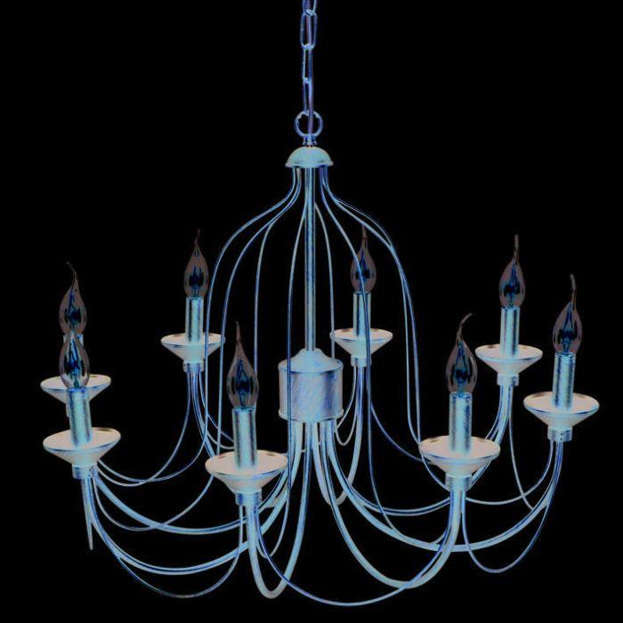 Lustre-Luino-8-lumières-bronze