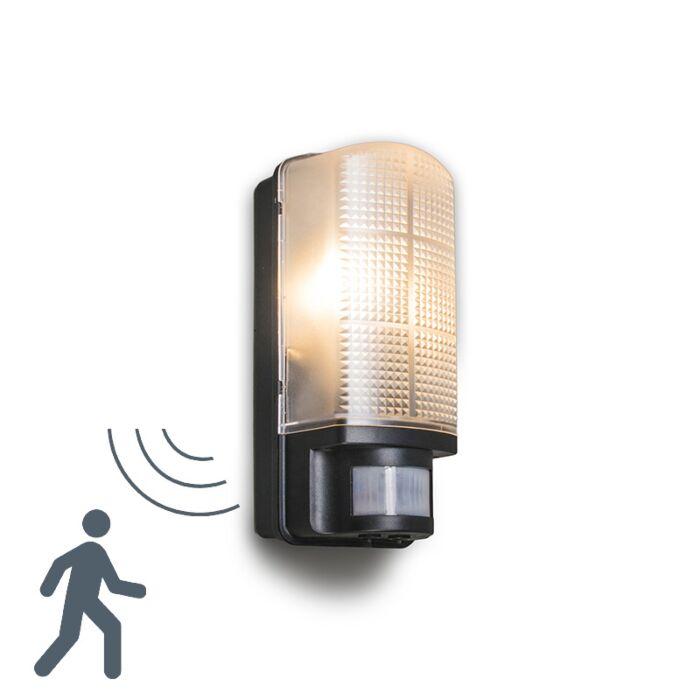 Applique-extérieur-Mossa-à-détecteur-de-mouvements-noir