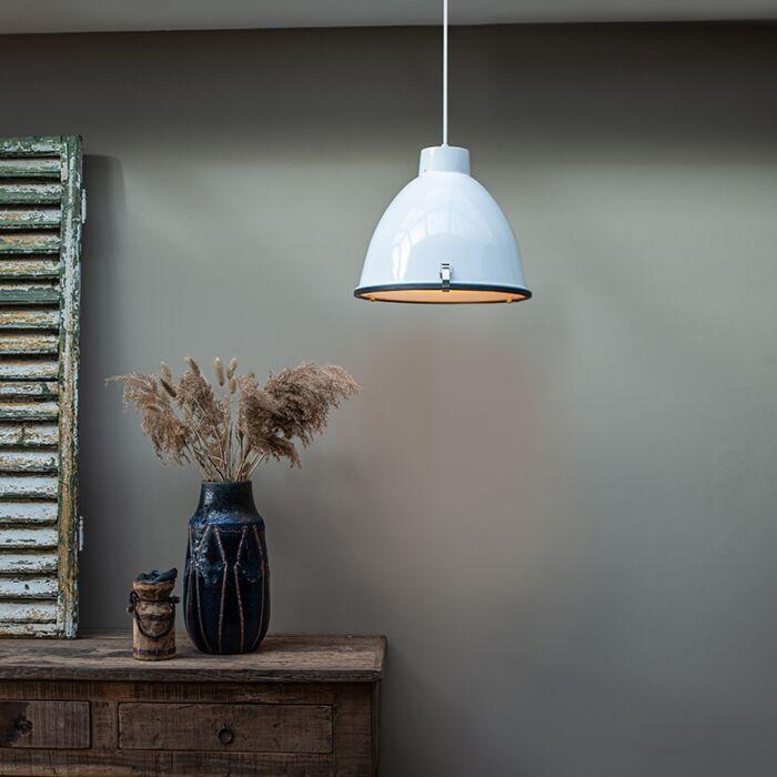 Lampe-à-suspension-industrielle-blanche-38-cm-dimmable---Anteros