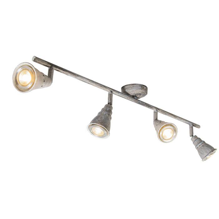 Spot-de-plafond-gris-pivotant-et-inclinable---Coney-4