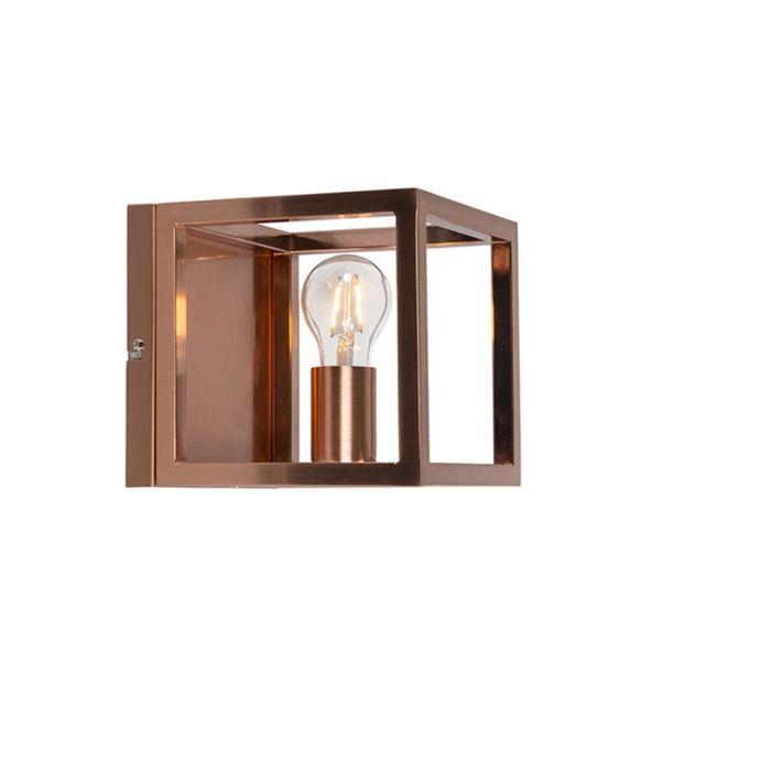 Applique-Cage-1-lampe-en-cuivre