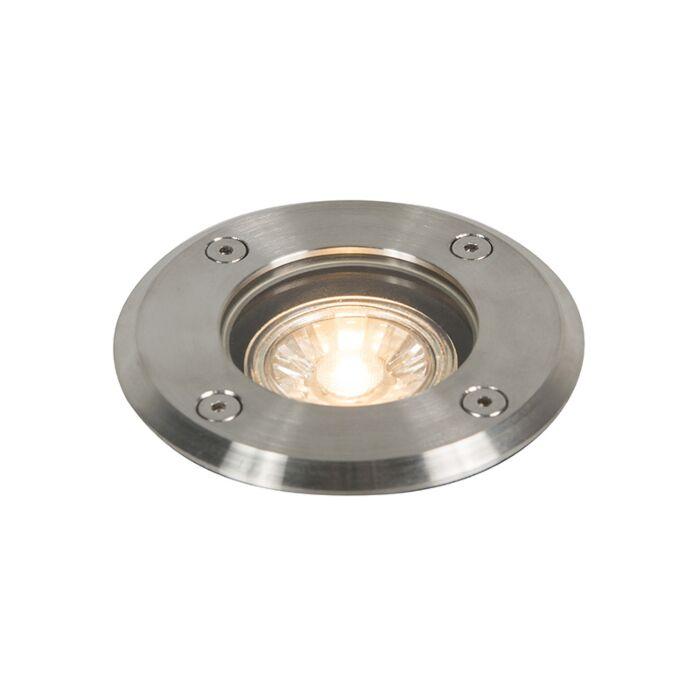Spot-de-sol-extérieur-acier-11cm-IP67---Basic-Round