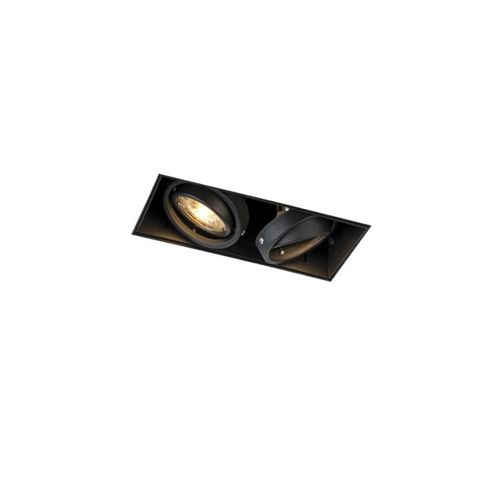 Spot-encastré-noir-rotatif-et-inclinable-trimless-à-2-lumières---Oneon-2