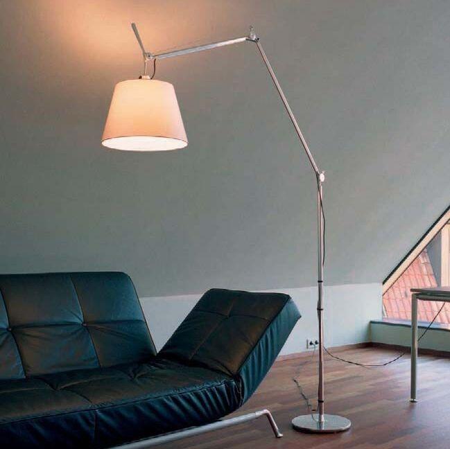 Lampadaire-en-aluminium-avec-abat-jour---Artemide-Tolomeo-Mega-Terra