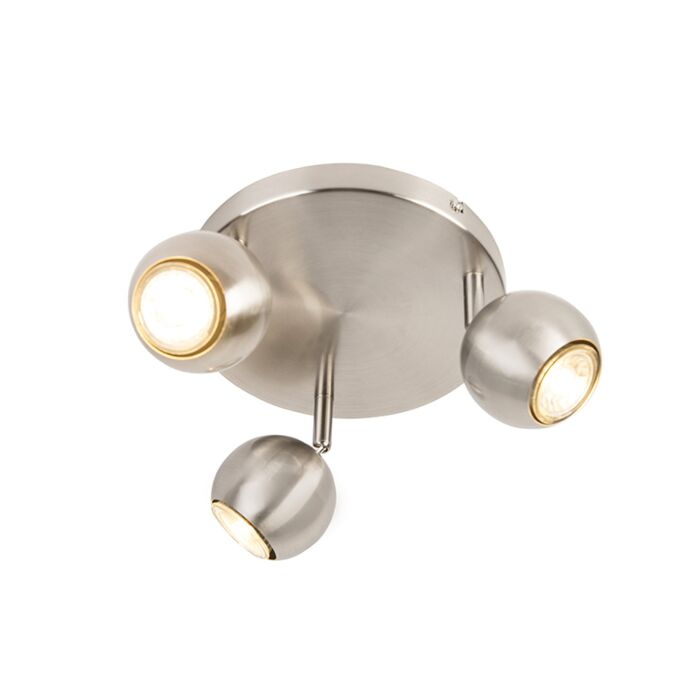 Rétro-spot-en-acier-rond-avec-plaque-de-plafond-à-3-lumières---Gissi