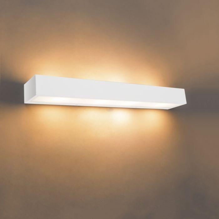 Applique-design-oblongue-blanc-60-cm---Houx