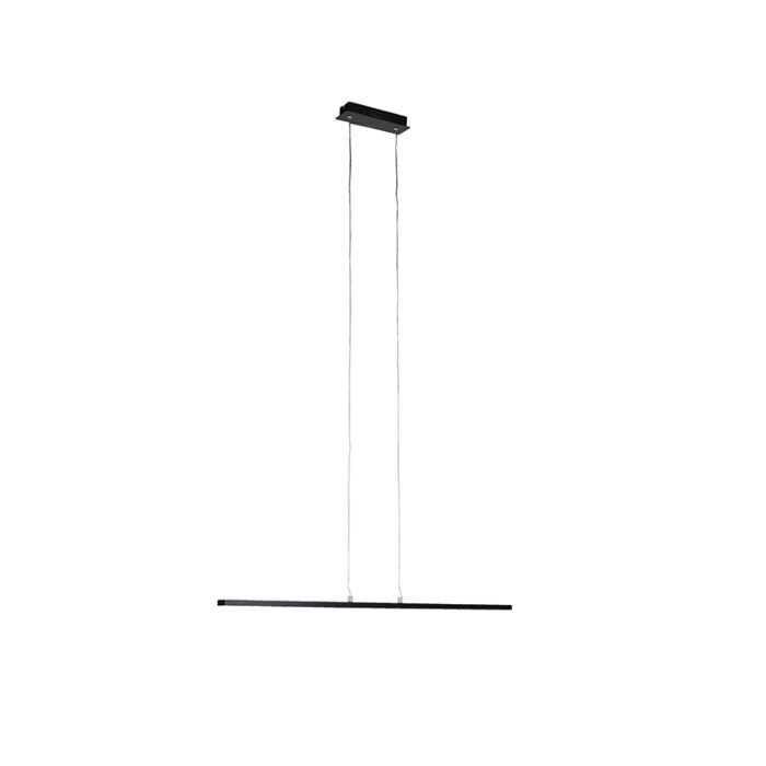 Suspension-moderne-noire-90-cm-avec-LED---Banda