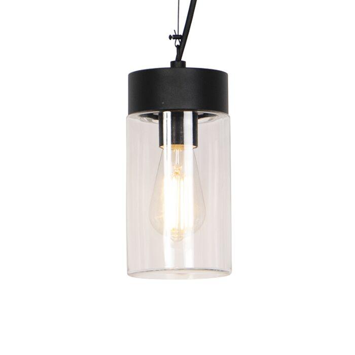 Lampe-suspendue-moderne-noir-IP44---Jarra