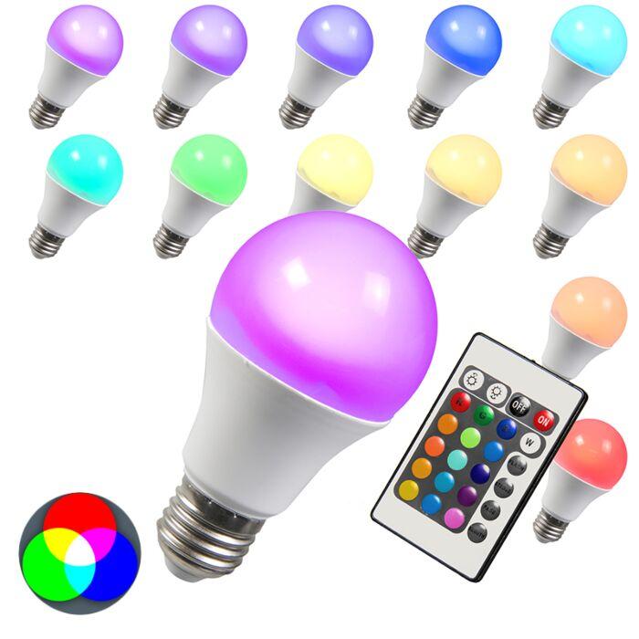 LED-RGB-E27-3W