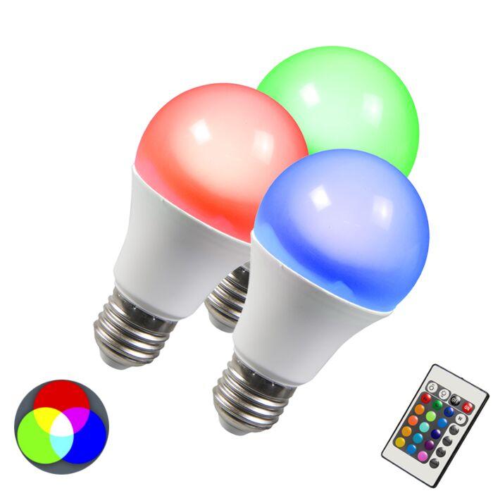 Ampoule-LED-RGB-E27-3W-Pack-de-3